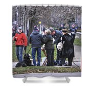 0010 Bloody Marys At The Turkey Trot 2014 Shower Curtain