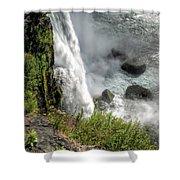 0010 Niagara Falls Misty Blue Series Shower Curtain