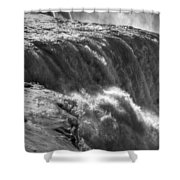 0010a Niagara Falls Winter Wonderland Series Shower Curtain