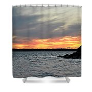 0011 Awe In One Sunset Series At Erie Basin Marina Shower Curtain