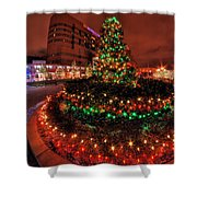 0011 Christmas Light Show At Roswell Series Shower Curtain