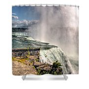 0011 Niagara Falls Misty Blue Series Shower Curtain