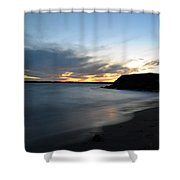 0012 Awe In One Sunset Series At Erie Basin Marina Shower Curtain