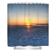 0012 Even On Our Coldest Days We Still Get Blessed With Gorgeous Rays Series Shower Curtain