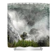 0012 Niagara Falls Misty Blue Series Shower Curtain