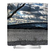 0013 Grand Island Bridge Series Shower Curtain