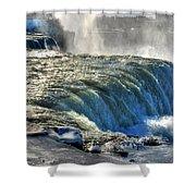 0013 Niagara Falls Winter Wonderland Series Shower Curtain