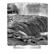 0013a Niagara Falls Winter Wonderland Series Shower Curtain