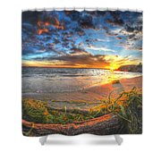 0014 Awe In One Sunset Series At Erie Basin Marina Shower Curtain