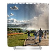 0014 Niagara Falls Misty Blue Series Shower Curtain