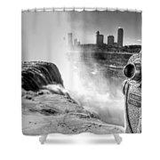 0014a Niagara Falls Winter Wonderland Series Shower Curtain