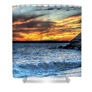 0015 Awe In One Sunset Series At Erie Basin Marina Shower Curtain