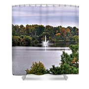 0015 Hoyt Lake Autumn 2013 Shower Curtain