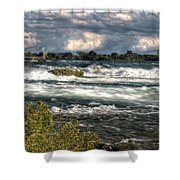0015 Niagara Falls Misty Blue Series Shower Curtain