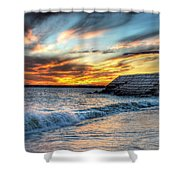0016 Awe In One Sunset Series At Erie Basin Marina Shower Curtain