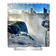 0016 Niagara Falls Winter Wonderland Series Shower Curtain