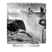 0016a Niagara Falls Winter Wonderland Series Shower Curtain