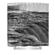 0017a Niagara Falls Winter Wonderland Series Shower Curtain