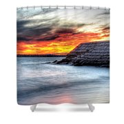 0018 Awe In One Sunset Series At Erie Basin Marina Shower Curtain