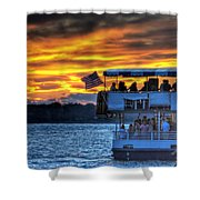0019 Awe In One Sunset Series At Erie Basin Marina Shower Curtain