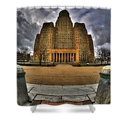 0019 City Hall From Within The Square Shower Curtain