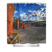 002 Building Buffalo Shower Curtain