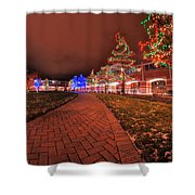 002 Christmas Light Show At Roswell Series Shower Curtain