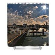002 Erie Basin Marina D Dock Shower Curtain