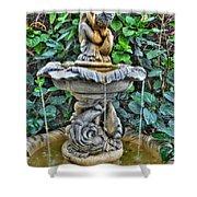 002 Fountain Buffalo Botanical Gardens Series Shower Curtain