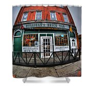 002 Mulligans Brick Bar Shower Curtain