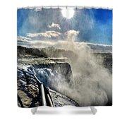 002 Niagara Falls Winter Wonderland Series Shower Curtain