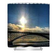 002 Peace Bridge In Passing  Shower Curtain