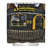 002 Sidelines Sports Bar And Grill Shower Curtain