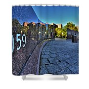 002 We Will Not Forget At The Erie Basin Marina Shower Curtain