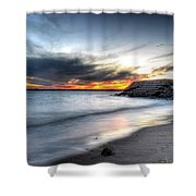 0020 Awe In One Sunset Series At Erie Basin Marina Shower Curtain