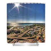 0023 Visual Highs Of The Queen City Shower Curtain