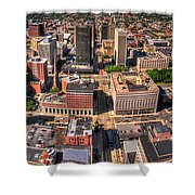 0023a Visual Highs Of The Queen City Shower Curtain