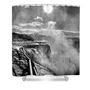 002a Niagara Falls Winter Wonderland Series Shower Curtain