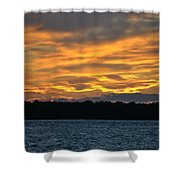 003 Awe In One Sunset Series At Erie Basin Marina Shower Curtain