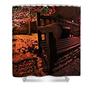 003 Christmas Light Show At Roswell Series Shower Curtain