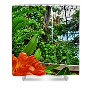 003 Falling Waters Buffalo Botanical Gardens Series Shower Curtain