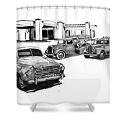 003-gathering Shower Curtain