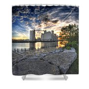 003 General Mills At Sunset Shower Curtain