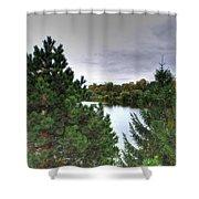 003 Hoyt Lake Autumn 2013 Shower Curtain