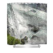 003 Niagara Falls Misty Blue Series Shower Curtain