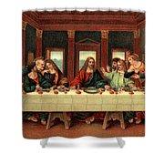 0030s The Last Supper After Leonardo Da Shower Curtain