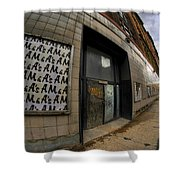 0034 Throwback Shopping Center Of Am And As Shower Curtain