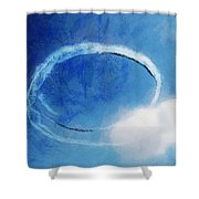 0036 - Air Show - Lux Shower Curtain