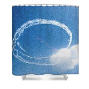 0036 - Air Show - Pastel Chalk Shower Curtain