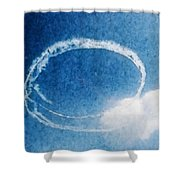 0036 - Air Show - Watercolor Shower Curtain